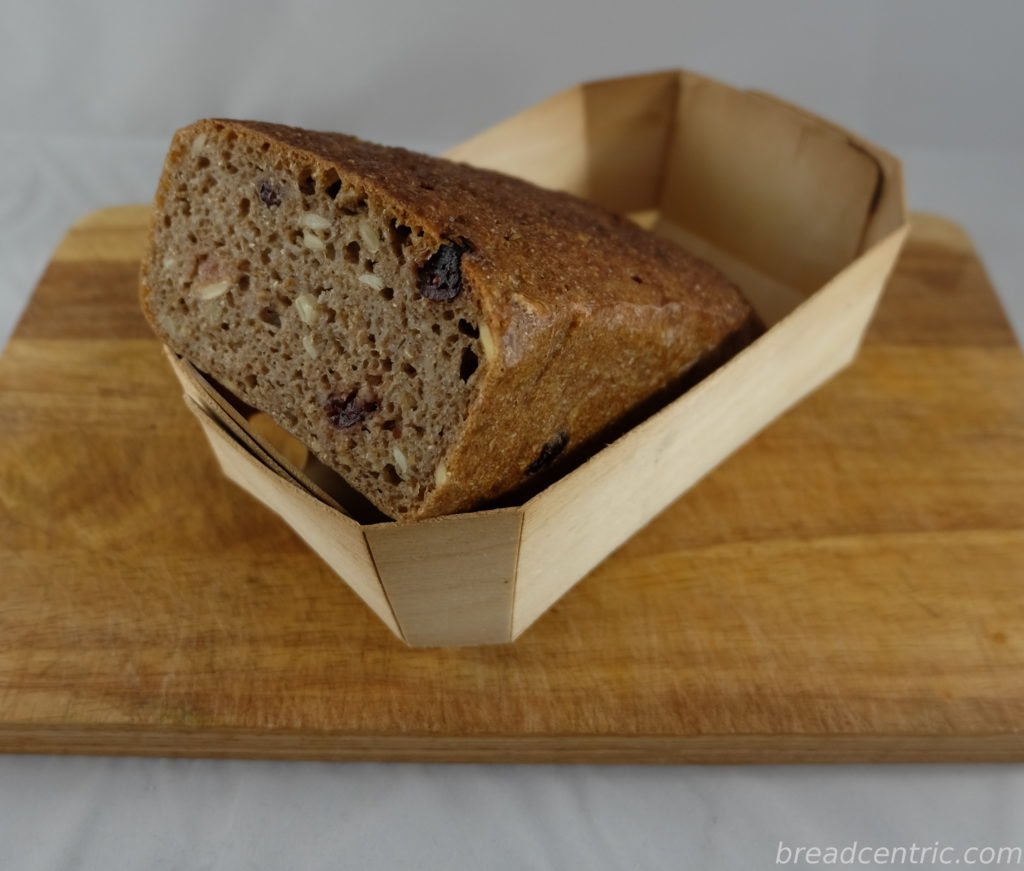 Rye bread with cranberries