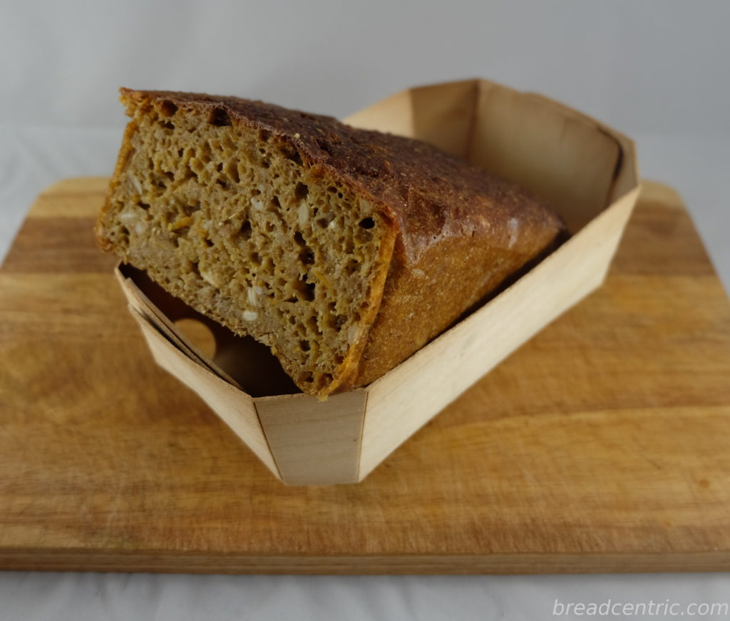 Rye with pumpkin and rosemary