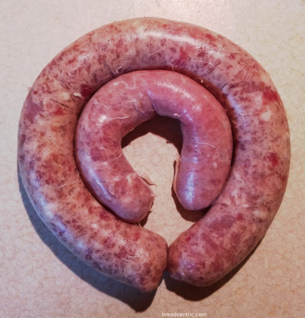 Homemade white sausage