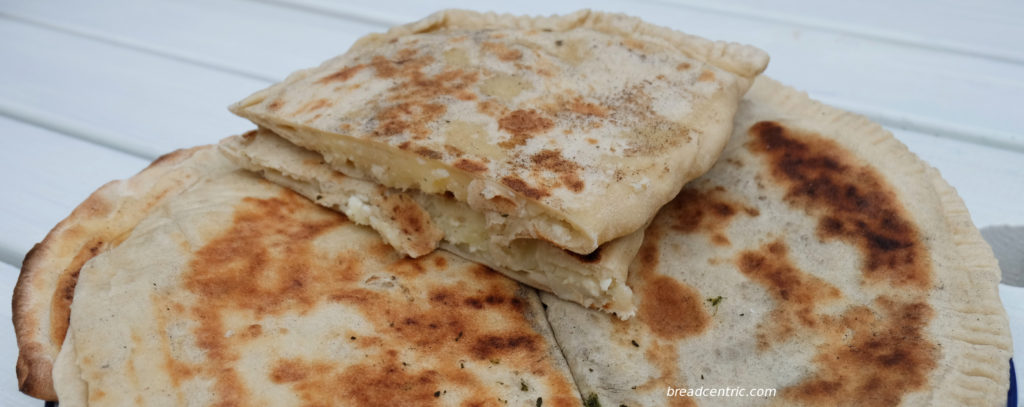 Gozleme with ruskie filling