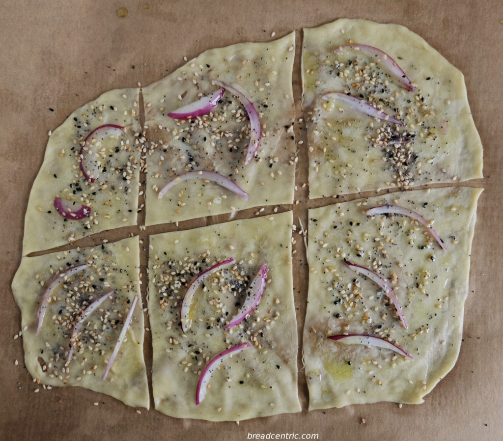 Armenian flatbread, ready to bake