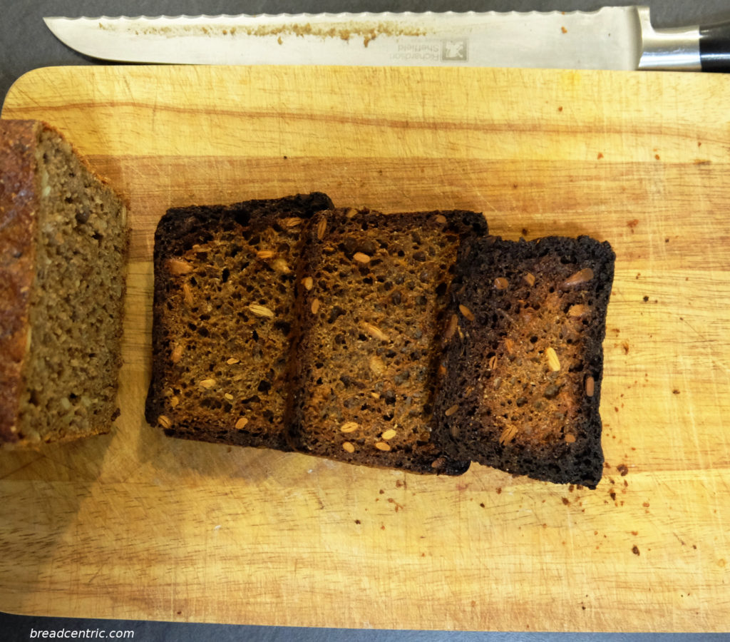 Roasted rye bread for kvass