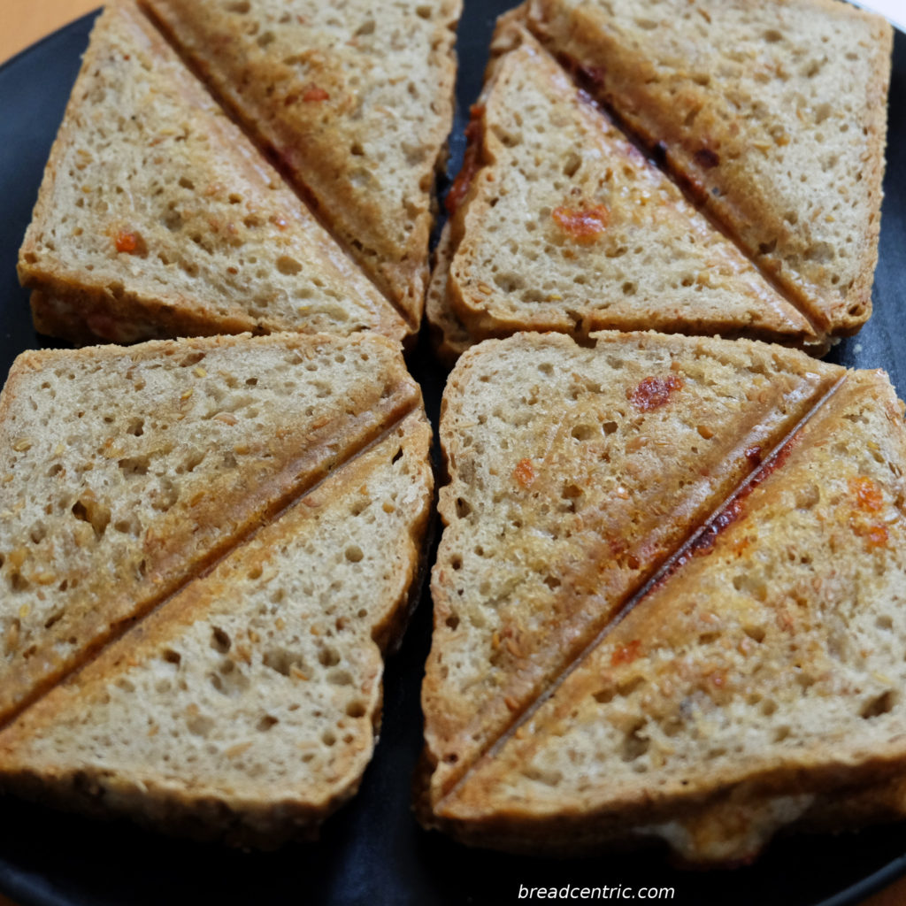 Gluten free toast bread toasted