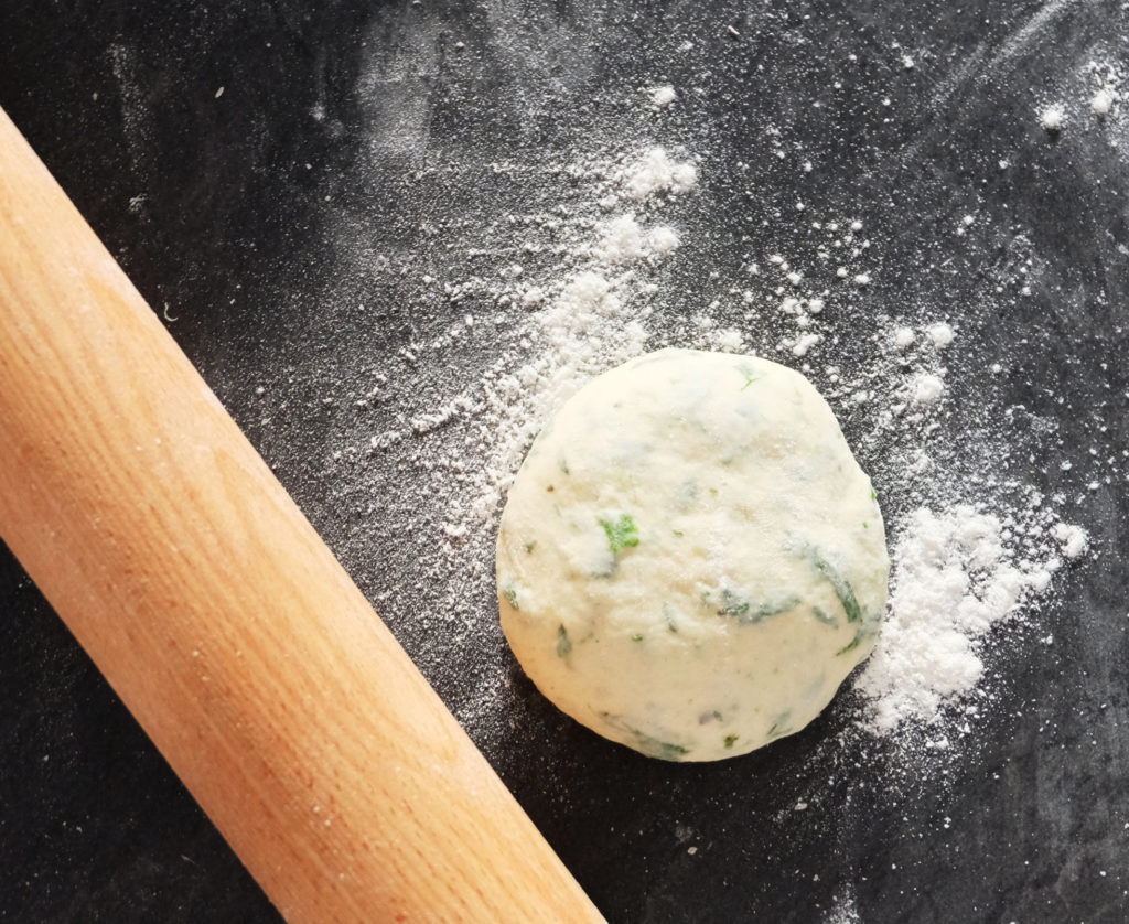 Jamie's flatbreads - rolling the dough