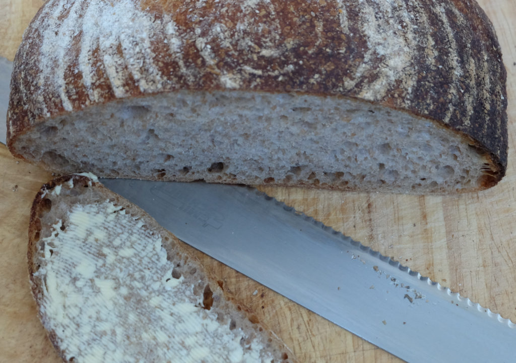 Justin's sourdough - the crumb 2