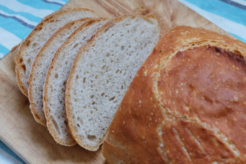 Wheat bread on levain - the crumb