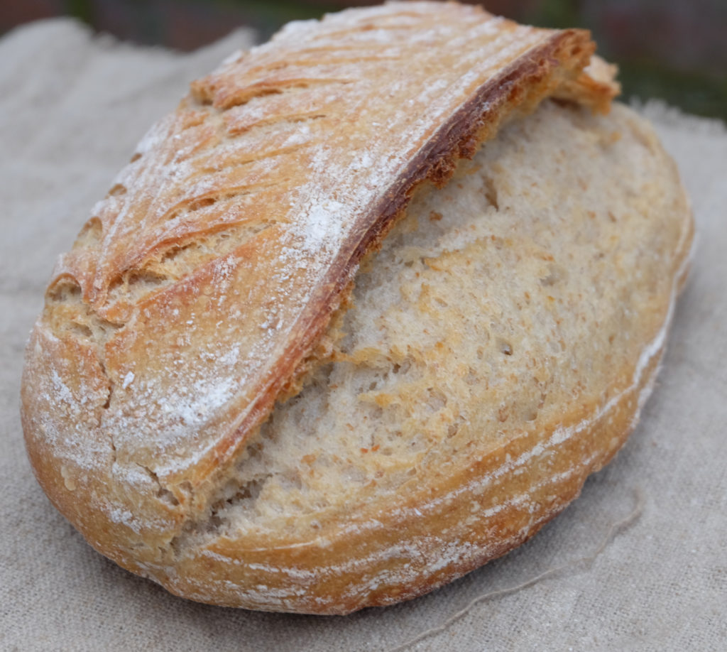 Vermont sourdough with wholemeal flour,