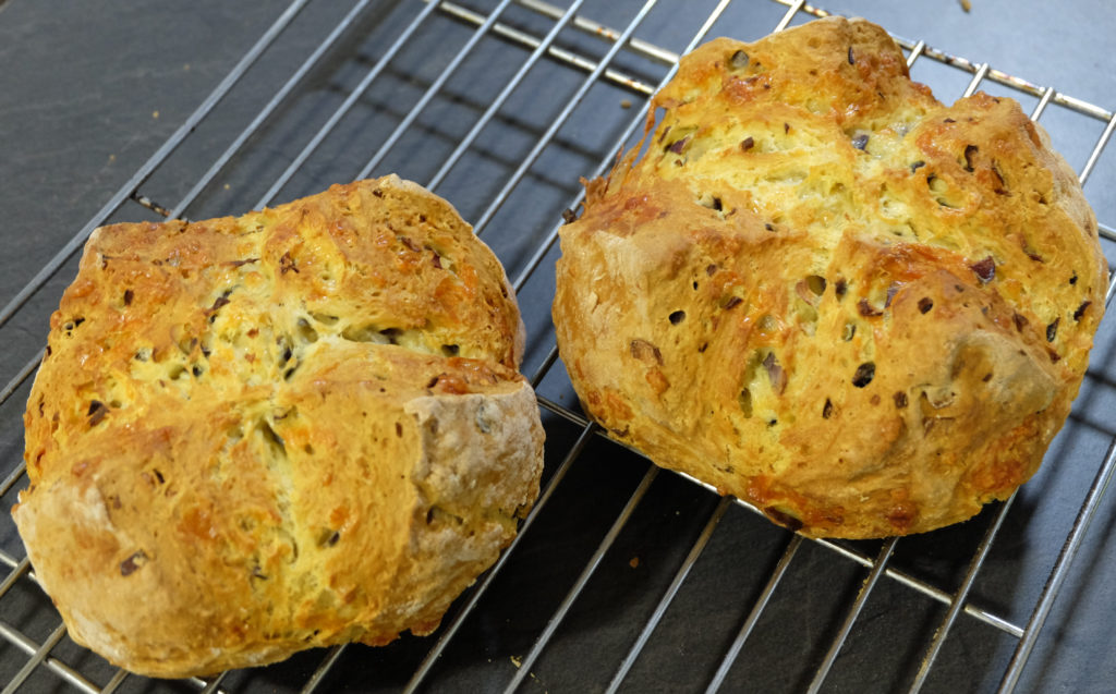 Cheese and onion soda bread